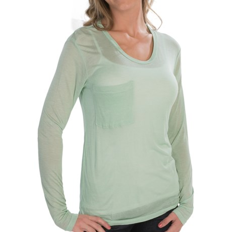 Alternative Apparel Soft Knit T-Shirt - Modal-Silk, Single Pocket, Long Sleeve (For Women)