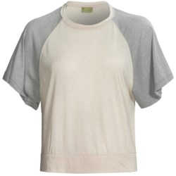 Alternative Apparel Oversized Raglan Crop Top - Short Sleeve (For Women)