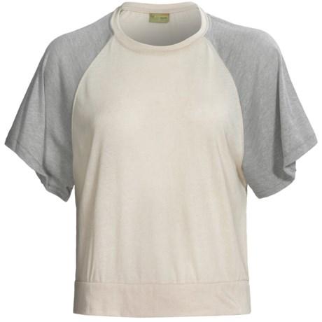 Alternative Apparel Oversized Raglan Crop Top - Short Sleeve (For Women)