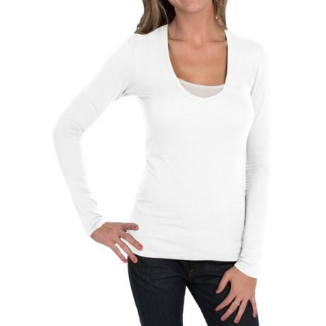 Alternative Apparel Cotton Knit T-Shirt - V-Neck, Long Sleeve (For Women)