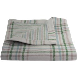 """Peacock Alley Upcycled Cotton Flannel Oversized Throw Blanket - Reversible, 50x70"""""""