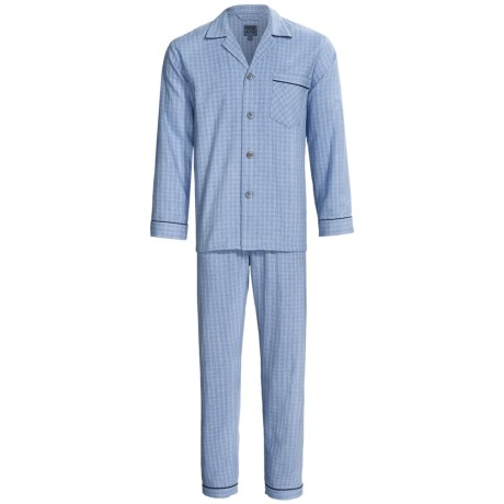 Majestic Flannel Pajamas - Cotton, Long Sleeve (For Men)