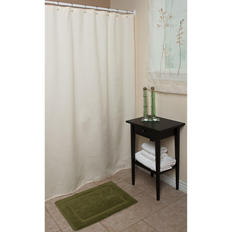 "Espalma Waffle Weave Shower Curtain 72x72"" Cotton 6663Y"