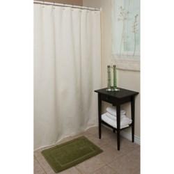 "Espalma Waffle Weave Shower Curtain - 72x72"", Cotton"