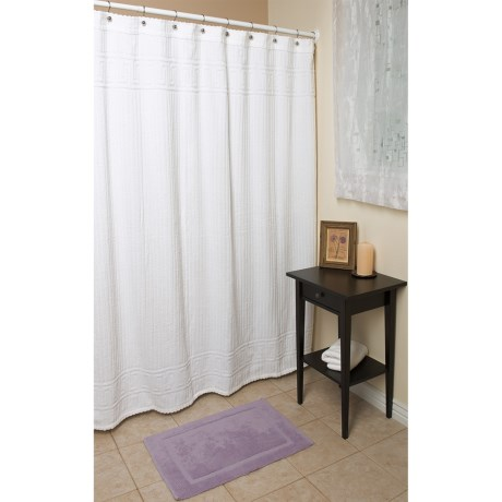 "Espalma Terry Shower Curtain - 72x72"", Cotton"