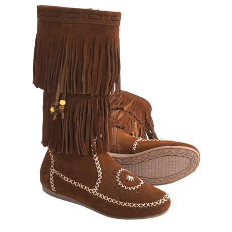Peace Mocs Jamie Boots - Suede (For Women)