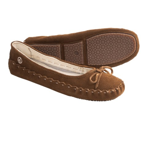 Peace Mocs Karen Slippers - Suede (For Women)