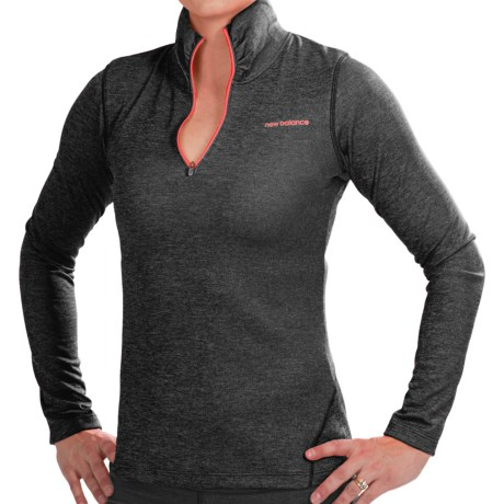 New Balance Lightning Dry® Pullover - Zip Neck, Long Sleeve (For Women)