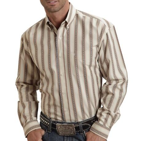 Stetson Sanded Dobby Stripe Shirt - Button-Up, Long Sleeve (For Men)