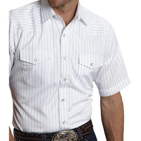 Roper Classic Stripe Shirt - Snap Front, Short Sleeve (For Men)