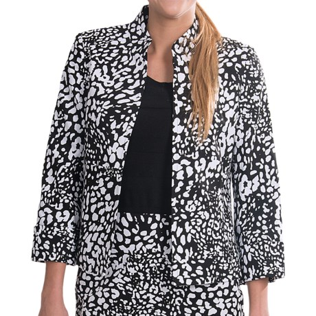 Evan Picone Cuffed Open Front Jacket (For Women)