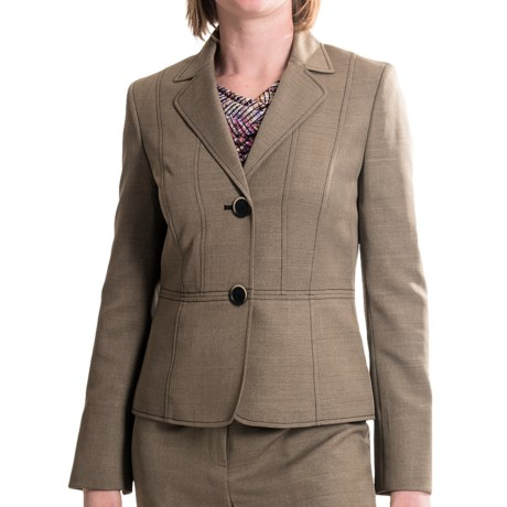 Evan Picone Oxford Weave Blazer (For Women)