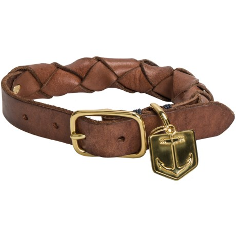 Lands' End Braided Pet Collar - Leather