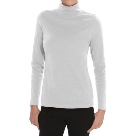Pendleton Mock Neck Shirt - Cotton Rib, Long Sleeve (For Women)