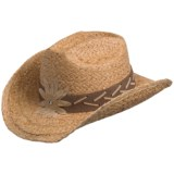Cov-ver Thick-Braided Raffia Cowboy Hat (For Women)