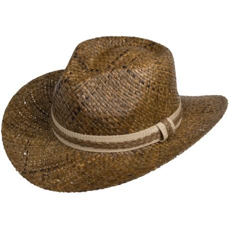 Cov-Ver Raffia Crushable Cowboy Hat - UPF 50+ (For Men and Women)