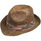 Cov-ver Hand-Braided Raffia Fedora Hat (For Men and Women)