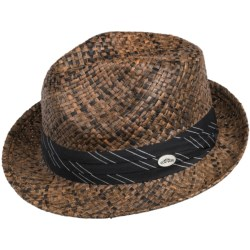Cov-ver Hand-Braided Raffia Short-Brim Fedora Hat (For Men and Women)