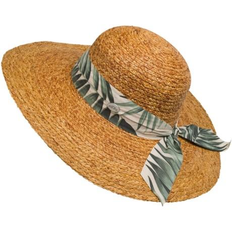Cov-ver Sewn-Braid Raffia Sun Hat - Extra-Wide Brim (For Women)