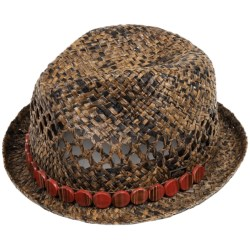 Cov-Ver Raffia Fedora Hat (For Women)
