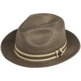 Cov-Ver Straw Braid Fedora Hat (For Men and Women)