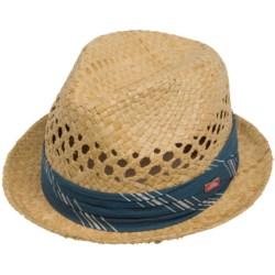 Cov-Ver Stingy Brim Fedora Hat - Raffia Straw (For Men and Women)