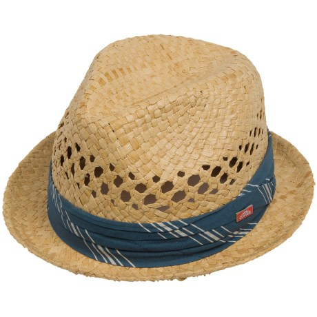 Cov-Ver Stingy Brim Fedora Hat - Raffia Straw (For Men and Women)