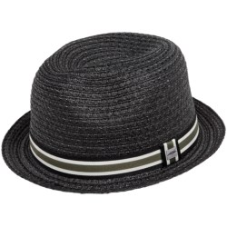 Cov-Ver Grosgrain Ribbon Fedora Hat - Straw (For Men and Women)