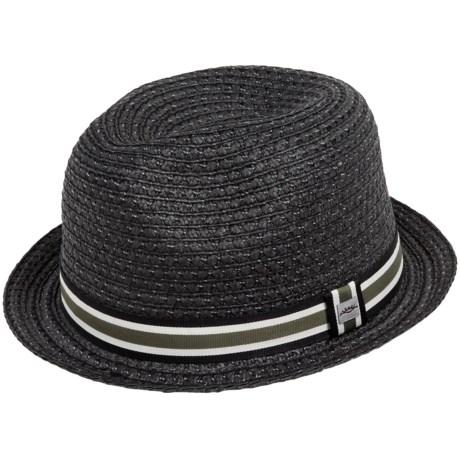 Cov-Ver Grosgrain Ribbon Fedora Hat - Straw (For Men and Women)