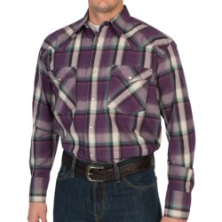 Roper Amarillo High Vista Plaid Shirt - Snap Front, Long Sleeve (For Tall Men)