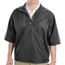Zero Restriction Mix Jacket - Zip Neck, Half Sleeve (For Men)