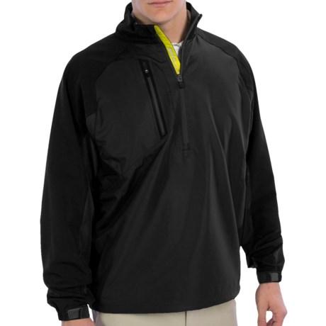 Zero Restriction Mix Wind Pullover Jacket - Zip Neck (For Men)
