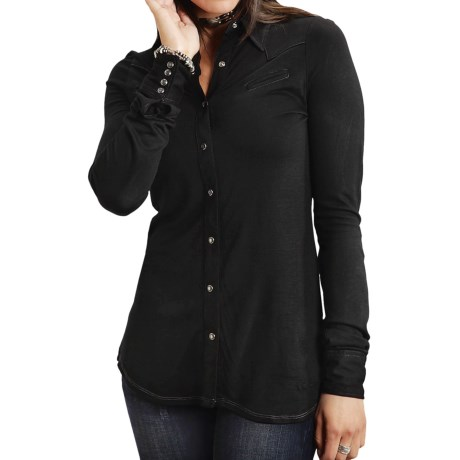Stetson Knit Western Snap-Front Shirt - Long Sleeve (For Women)