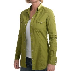 Tin Haul Solid Snap Front Shirt - Long Sleeve (For Women)