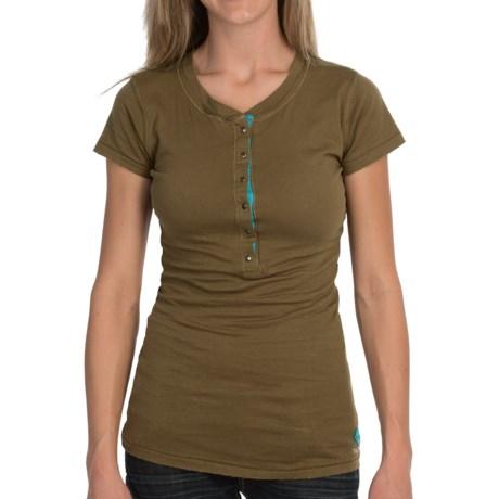 Tin Haul Jersey Henley Shirt - Short Sleeve (For Women)