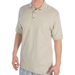 UltraClub Egyptian Cotton Interlock Polo Shirt - Short Sleeve (For Men)