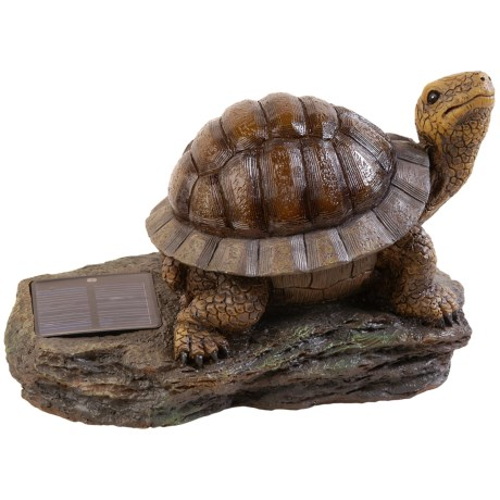 Pine Top Decorative Solar Turtle Accent Light - Amber LED