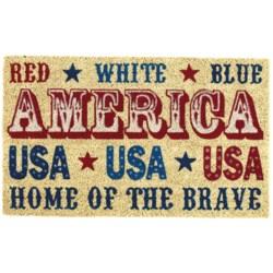 "DII Coir Americana Theme Doormats - 18x30"""