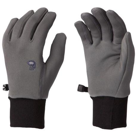 Mountain Hardwear Fleece Gloves - Polartec® Power Stretch® (For Men)
