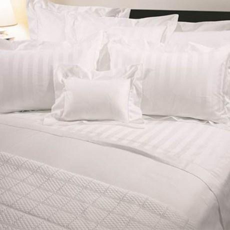 Versai Basics Reversible Tonal Stripe Italian Duvet Set - King, 300 TC Egyptian Cotton