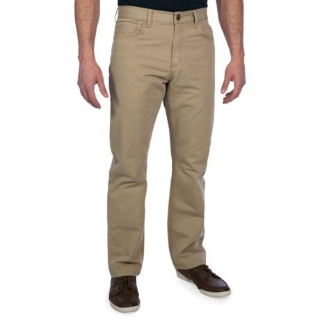 Straight Leg Twill Pants (For Men)