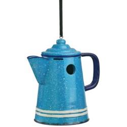 Outside Inside Graniteware Coffee Pot Birdhouse