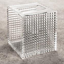 Creative Bath Clear Acrylic Boutique Tissue Box Cover