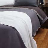 Coyuchi Subtle Diamond Matelasse Coverlet - Full-Queen, Organic Cotton