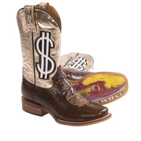 Tin Haul Gold Digger Cowboy Boots - Square Toe, Leather (For Women)