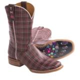 Tin Haul Plaid Cowboy Boots (For Women)