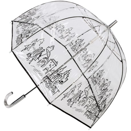 London Fog Clear Bubble Stick Umbrella - 52""