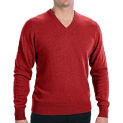Hawick Knitwear Cashmere V-Neck Sweater (For Men)