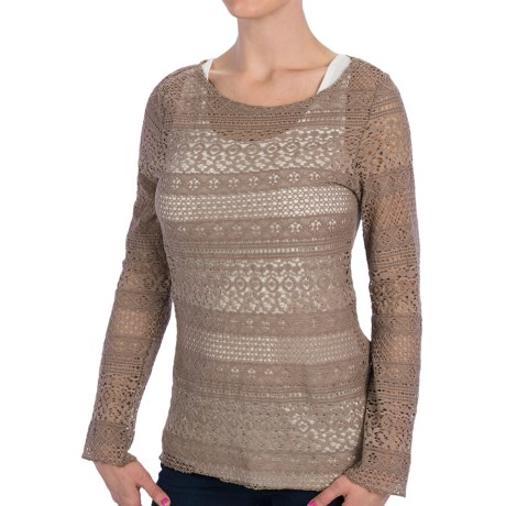 dylan Dylan by True Grit Navajo Lace Shirt - Crew Neck, Long Sleeve (For Women)