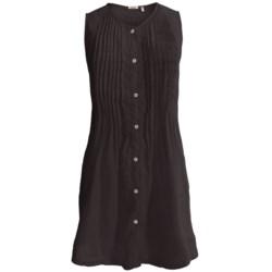 Dylan by True Grit Vintage Pintuck Dress - Linen, Sleeveless (For Women)